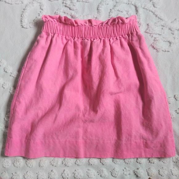 J. Crew Dresses & Skirts - J.Crew Pink Paper bag Waist Skirt Sz 0